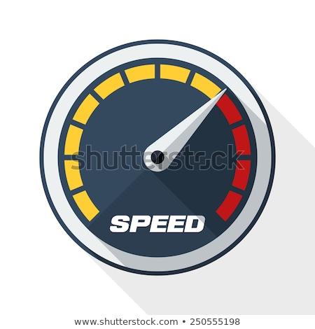замедлять быстро спидометр круга икона долго Сток-фото © Anna_leni