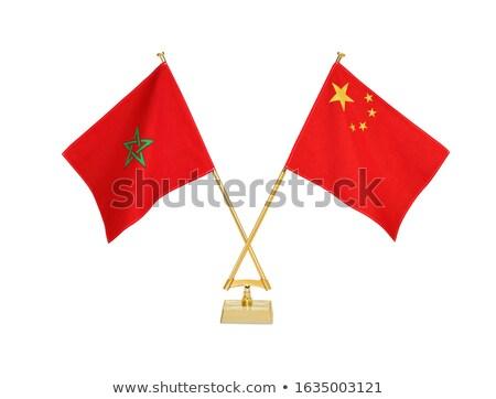china and morocco   miniature flags stock photo © tashatuvango