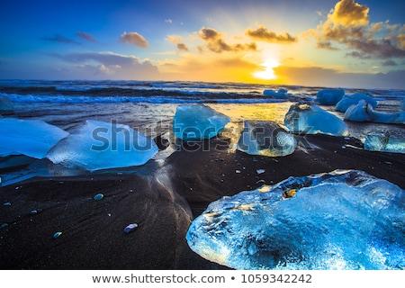 tó · Izland · gyönyörű · víz · természet · jég - stock fotó © Hofmeester