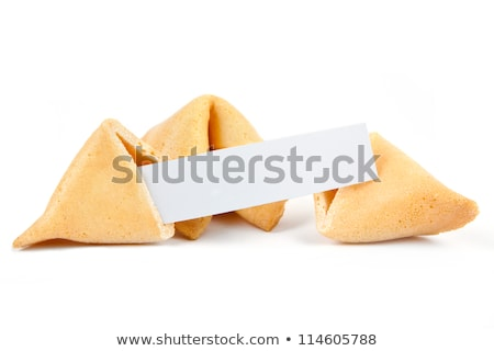 fortune cookie on a white background. Stock photo © ozaiachin