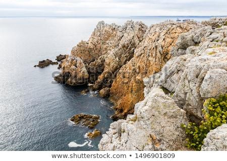 Pointe de Pen-Hir et tas de pois Stock photo © tilo