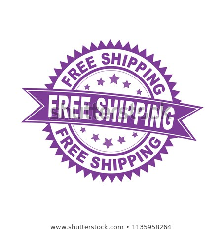 Free Shipping Violet Vector Icon Design Stock photo © rizwanali3d