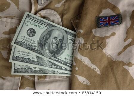 Ordu üniforma ceket dolar yalıtılmış beyaz Stok fotoğraf © GeniusKp