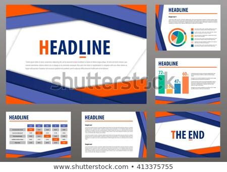 вектора шаблон презентация дизайна бизнеса Сток-фото © orson