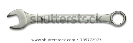Moersleutels geïsoleerd witte metaal staal schroef Stockfoto © tetkoren