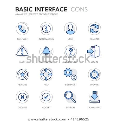 Informações azul vetor ícone projeto digital Foto stock © rizwanali3d