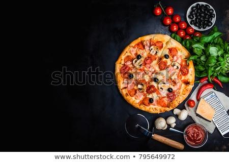nachos · queso · hortalizas · verde · aceitunas · negras - foto stock © zhekos