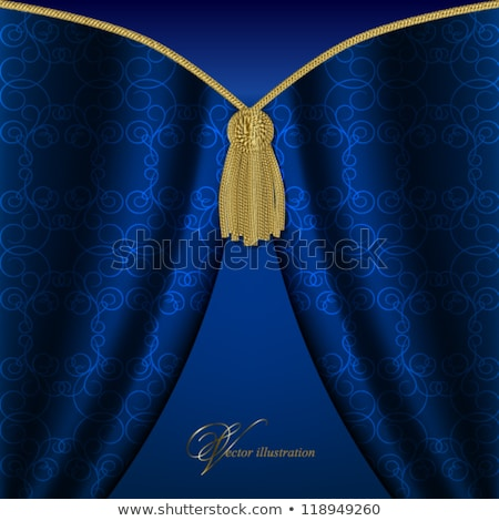 Arany kék esküvő színpad Stock fotó © esatphotography