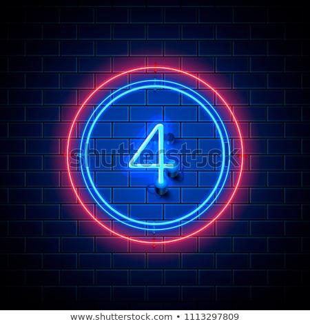 four neon signs stock photo © voysla