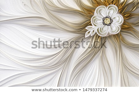 illustration of a fractal fantastic bright shiny flower Stock photo © yurkina