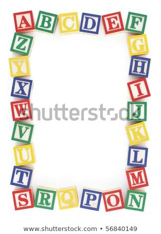 ábécé · mintázott · szürke · tinta · izolált · terv - stock fotó © 3mc