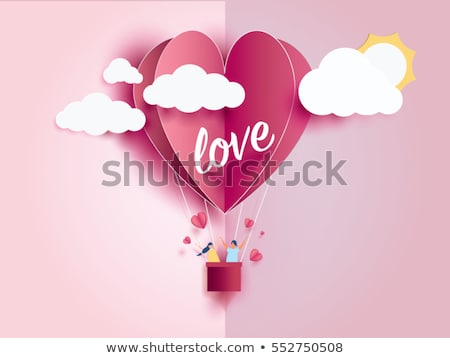 Stock photo: artistic valentine card