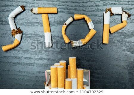 Broken cigarette top view, quit smoking concept Stock photo © stevanovicigor