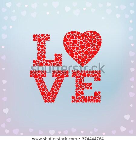 couple heart made of red roses eps 10 stock photo © beholdereye