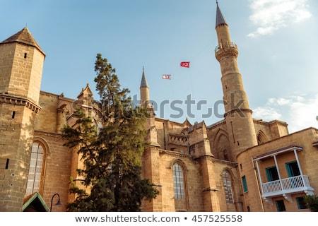 Minaret mosquée Chypre Voyage pavillon religion Photo stock © Kirill_M