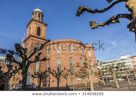 Paulskirche, famous Church in Frankfurtt, Germany under blue sky Stock photo © meinzahn