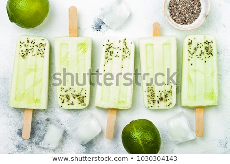 Сток-фото: Chia Frozen Popsicles