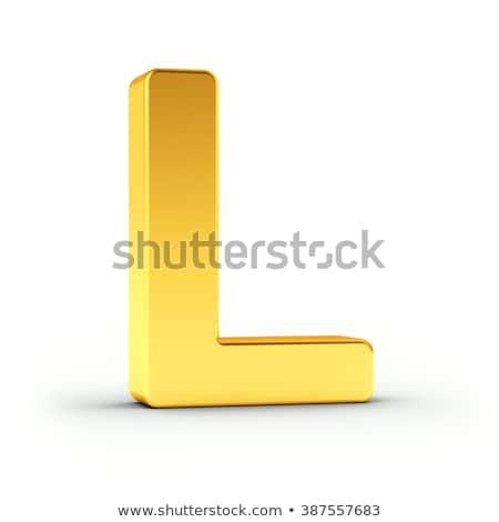 Litera l obyty złoty obiektu biały Zdjęcia stock © creisinger