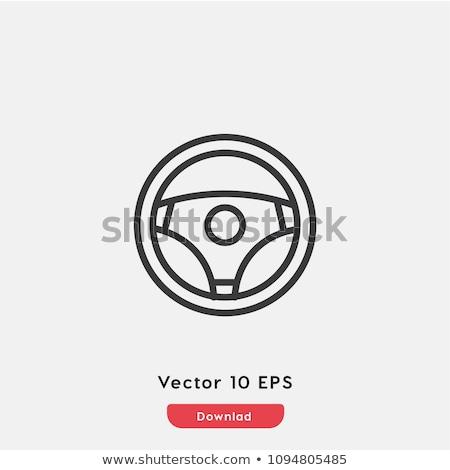 carro · volante · ícone · vetor · isolado · branco - foto stock © rastudio