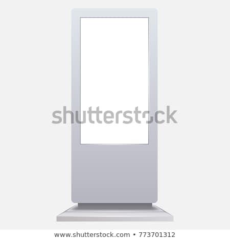 バナー · 画面 · 白 · 3D · レンダリング · 紙 - ストックフォト © cherezoff