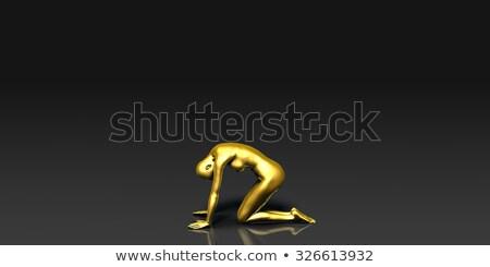 The Downward Facing Frog Yoga Pose Foto stock © kentoh