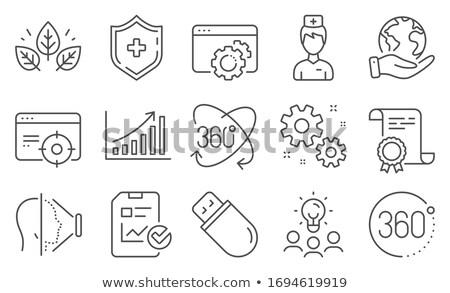 Сток-фото: иконки · целевой · диаграммы · иллюстрация · белый · фон