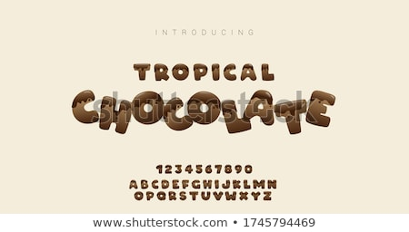 The Word Chocolate stock photo © AlphaBaby