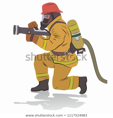 wektora · ognia · zapobieganie · kask · odizolowany · biały - zdjęcia stock © bluering