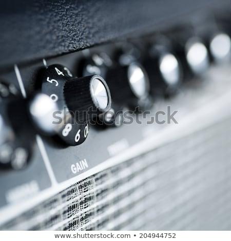 Vintage volume macro photo guitare électrique Photo stock © sumners