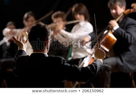 vezető · ázsiai · fiatal · zenekar · koncentrált · férfi - stock fotó © rastudio