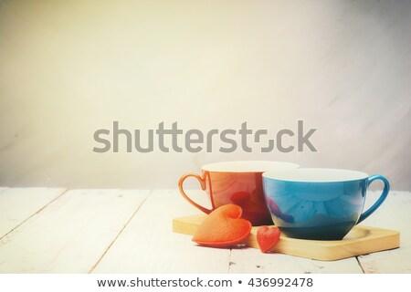 Siyah kahve espresso iki kalp Stok fotoğraf © photocreo