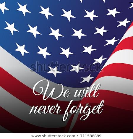 Patriota dzień 11 września banderą USA Zdjęcia stock © m_pavlov