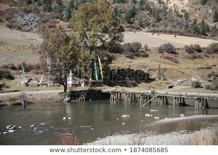Kudde rivier landschap berg rock asia Stockfoto © tomistajduhar