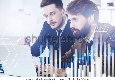 A graph with two businessmen Stock photo © bluering