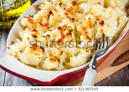 baked cauliflower and cream Stock photo © M-studio