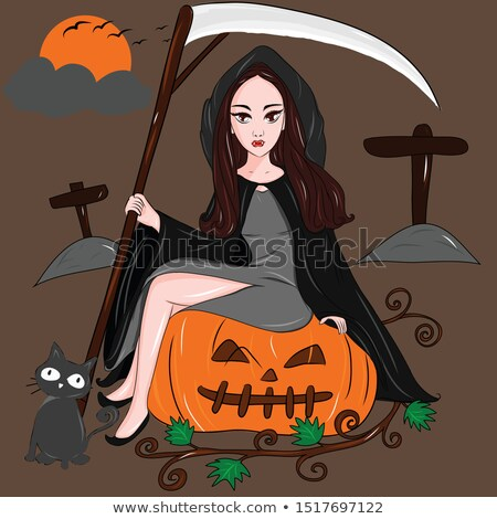 Beautiful vampire young woman Stock photo © svetography