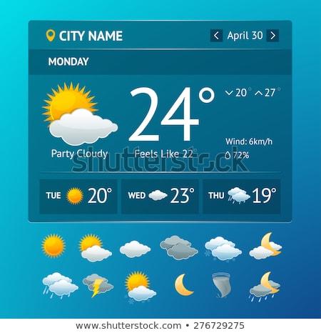 Pogoda prognoza przyciski ilustracja biały tle Zdjęcia stock © bluering