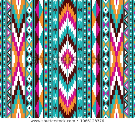 seamless background with native american indians stock photo © bluering