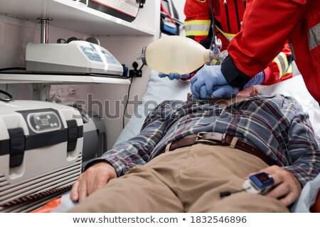 Binnenkant medische zak illustratie witte Stockfoto © bluering
