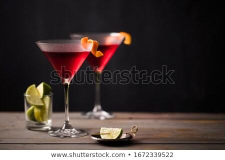 Kozmopolita alkohol asztal üveg háttér bár Stock fotó © racoolstudio