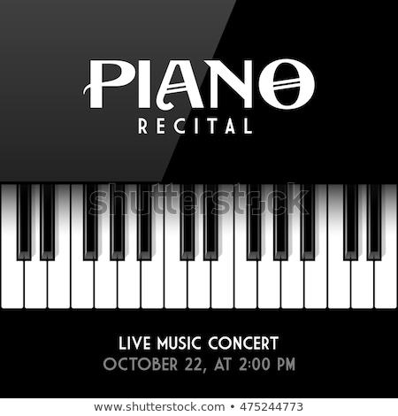 Top piano toetsenbord vector ontwerp Stockfoto © RAStudio