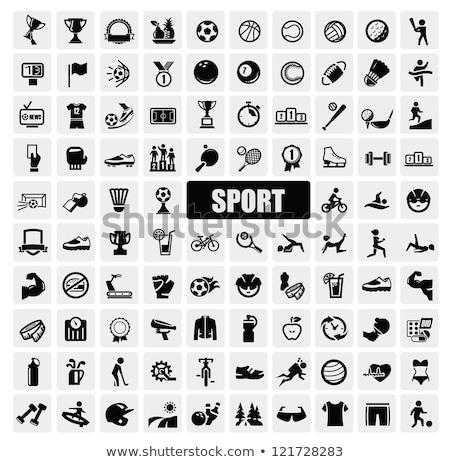 Photo stock: Rugby · icône · sport · illustration · fond
