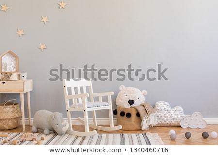 starring baby white rhino stock photo © simoneeman