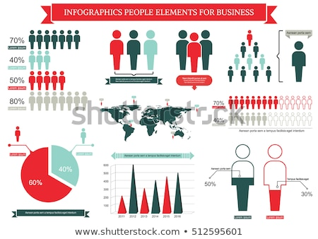 An infographic of the people Stock photo © bluering
