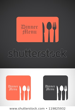 Stock photo: Set restaurant colorful interior, design elements