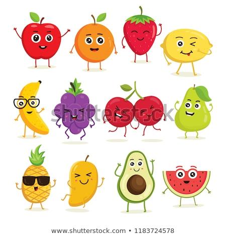 Cartoon Fruit Characters Stock photo © fizzgig