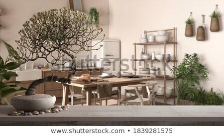 bonsai · rosso · farfalla · isolato · bianco · albero - foto d'archivio © koufax73