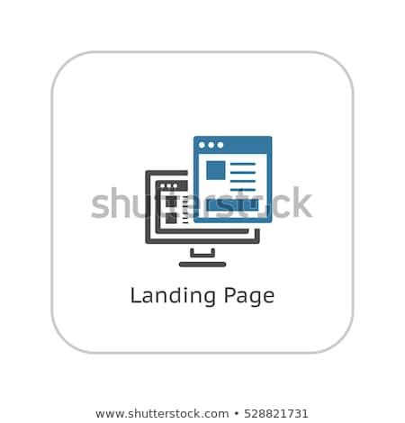 Leszállás oldal ikon terv üzlet pénzügy Stock fotó © WaD