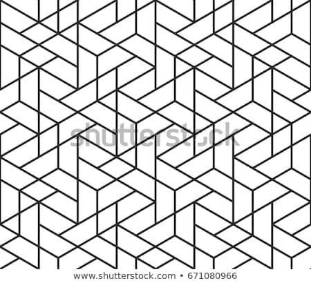 Vector naadloos zwart wit driehoek grid patroon Stockfoto © CreatorsClub