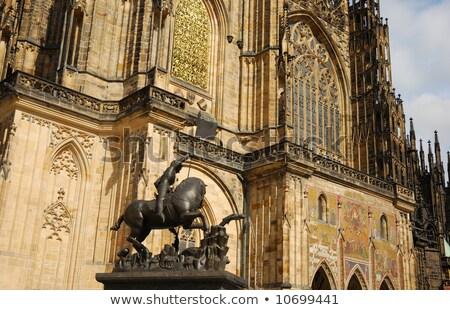 Ayrıntılar katedral Prag Çek Cumhuriyeti sanat iç Stok fotoğraf © Kirill_M